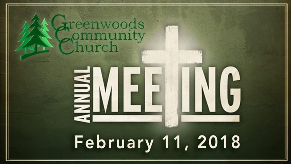 GCC Annual Meeting @ Greenwoods Community Church   Sheffield   Massachusetts   United States