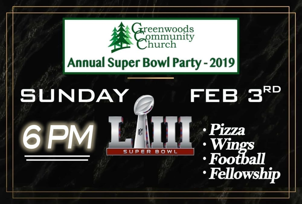 GCC Super Bowl Party! @ Greenwoods Community Church | Sheffield | Massachusetts | United States