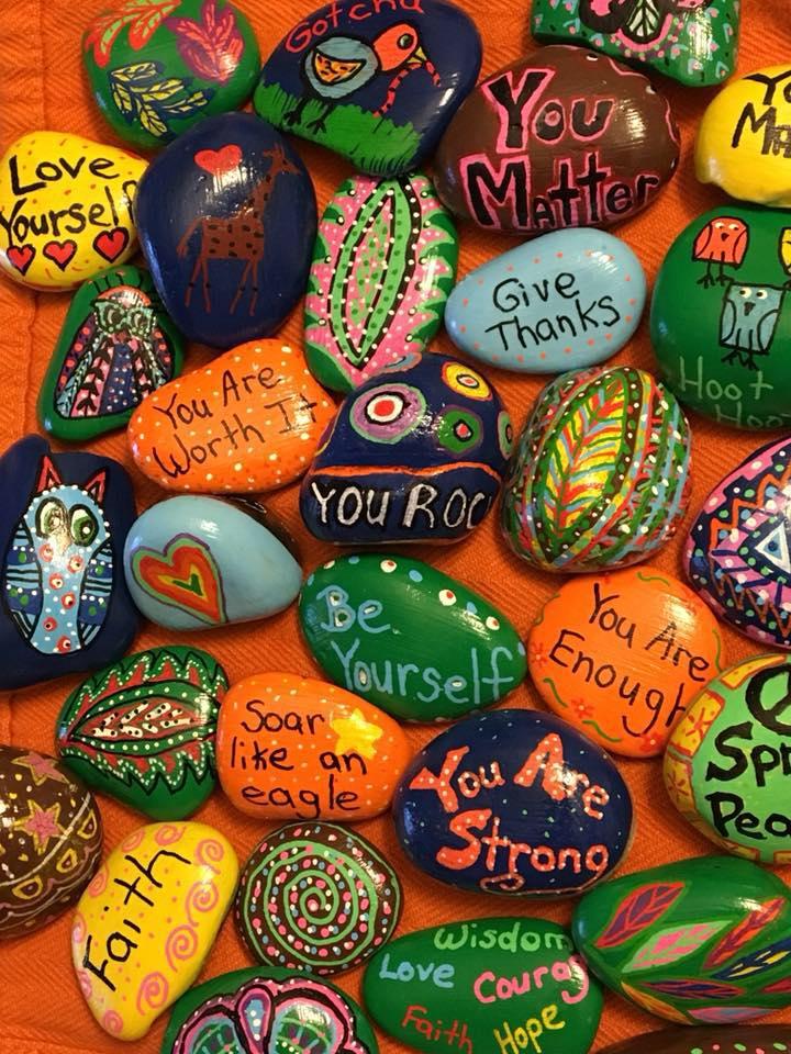 NW Corner Kindness Rocks @ Greenwoods Community Church | Sheffield | Massachusetts | United States