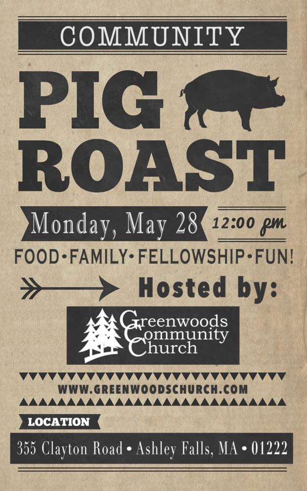 GCC Community Pig Roast @ Greenwoods Community Church | Sheffield | Massachusetts | United States