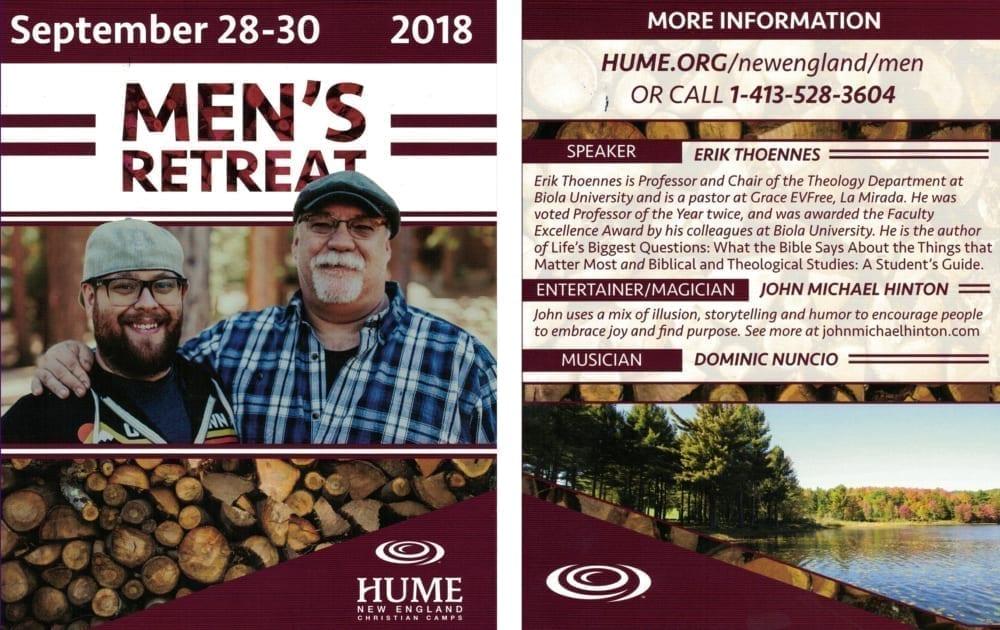 Men's Retreat - Hume New England @ Hume New England   Monterey   Massachusetts   United States