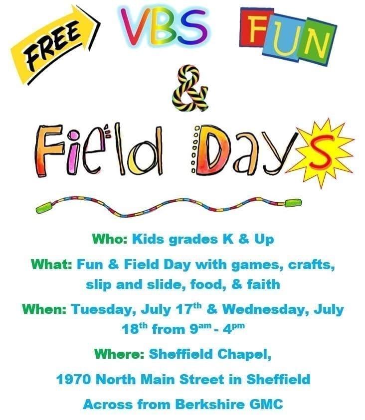 VBS Fun & Field Days @ Sheffield Chapel | Sheffield | Massachusetts | United States