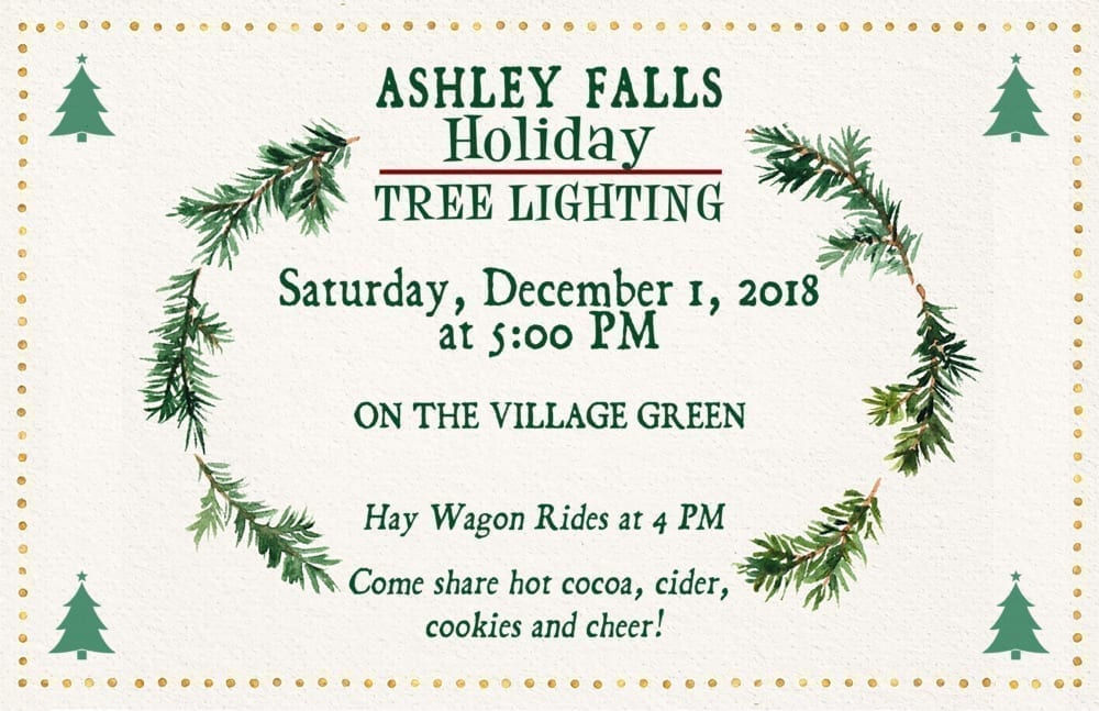 Ashley Falls Holiday Tree Lighting @ Ashley Falls Village Green | Sheffield | Massachusetts | United States