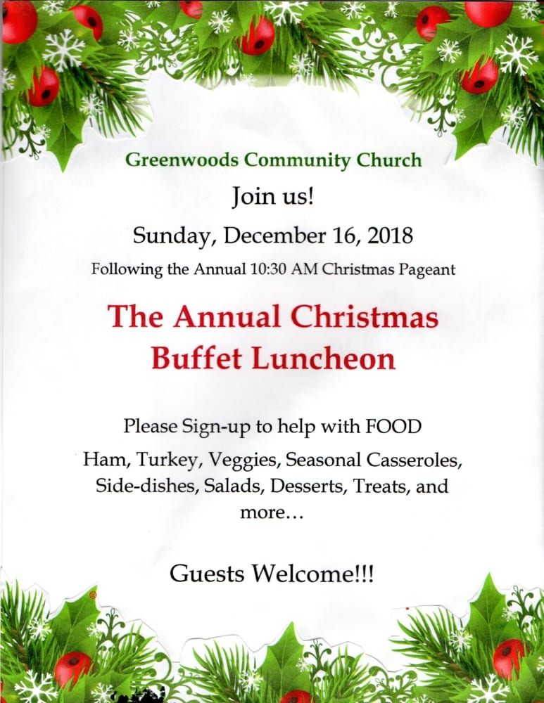 Annual Christmas Buffet @ Greenwoods Community Church | Sheffield | Massachusetts | United States